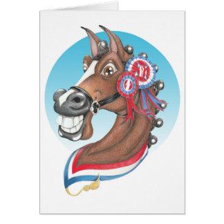 Equi-toons , 'Glory Days ' champion cartoon horse Card