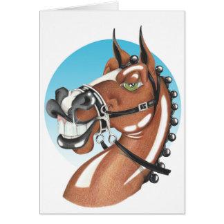 Equi-toons 'Kerching'! brown horse babies vest. Card