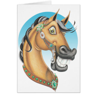 Equi-toons 'Western Showstopper' horse companion Card
