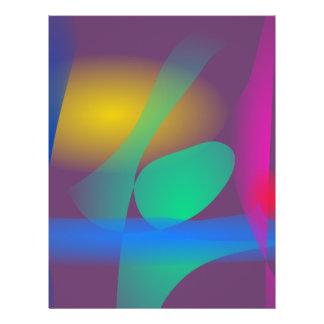 Equilibrio abstracto tarjeta publicitaria