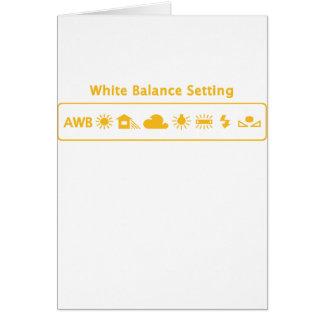 Equilibrio blanco tarjeta de felicitación