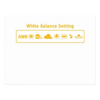 Equilibrio blanco tarjetas postales