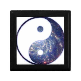 Equilibrio cósmico joyero cuadrado pequeño