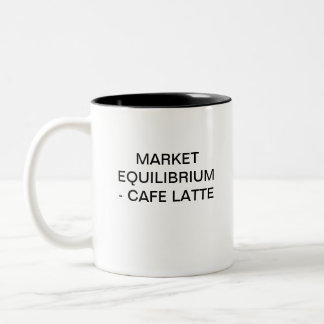 EQUILIBRIO DE MERCADO - CAFFE LATTE TAZA DE DOS TONOS