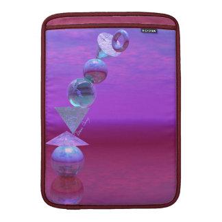 Equilibrio fucsia y violeta del equilibrio - fundas macbook air
