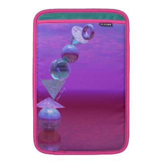 Equilibrio fucsia y violeta del equilibrio - funda macbook air