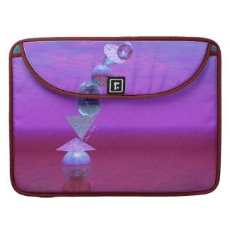 Equilibrio fucsia y violeta del equilibrio - fundas para macbooks