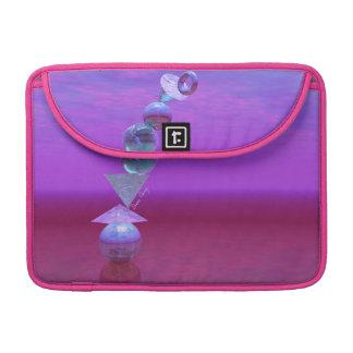 Equilibrio fucsia y violeta del equilibrio - fundas macbook pro