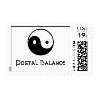 Equilibrio postal sello