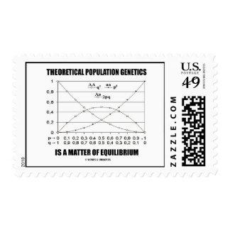 Equilibrio teórico de la materia de la genética de sello