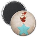 Equilibrist Santa Claus 2 Inch Round Magnet