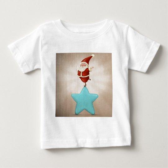 Equilibrist Santa Claus Baby T-Shirt