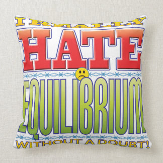 Equilibrium Hate Face Throw Pillow