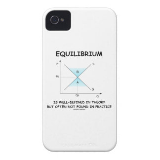 Equilibrium Is Well-Defined In Theory Not Often iPhone 4 Cover
