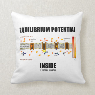Equilibrium Potential Inside Active Transport Throw Pillow