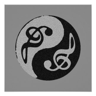 equilibrium zen music decor poster