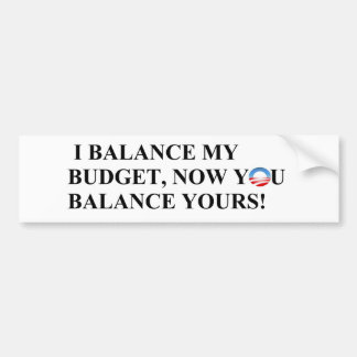 ¡Equilibro mi presupuesto que usted puede también! Pegatina Para Auto