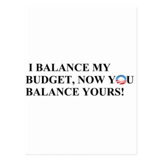 ¡Equilibro mi presupuesto que usted puede también! Tarjeta Postal