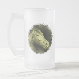 Equine Art  Frosted Beer Mug