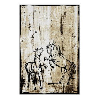 Equine Art Poster