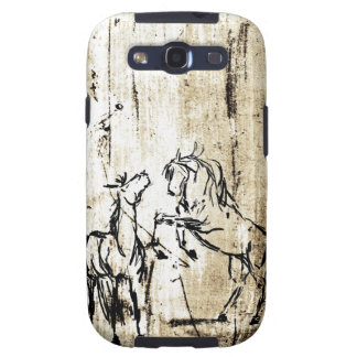 Equine Art Rearing Horses Galaxy S3 Cover
