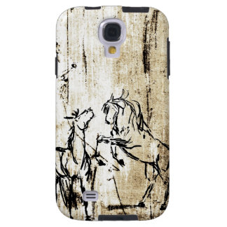 Equine Art Rearing Horses Galaxy S4 Case