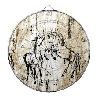 Equine Art Rearing Horses Dartboard