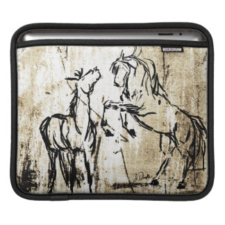 Equine Art Rearing Horses iPad Sleeve