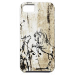 Equine Art Rearing Horses iPhone SE/5/5s Case