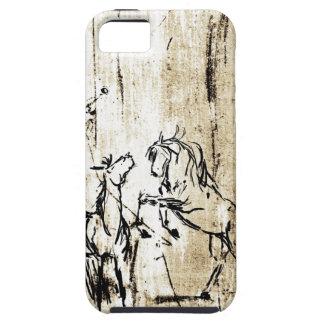 Equine Art Rearing Horses iPhone SE/5/5s Case