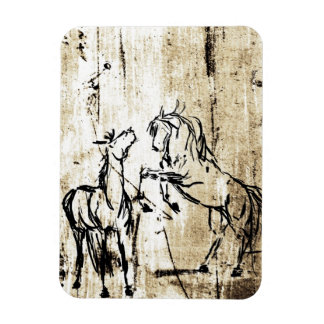 Equine Art Rearing Horses Magnet