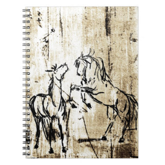 Equine Art Rearing Horses Note Books