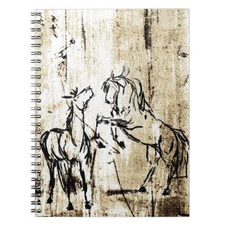 Equine Art Rearing Horses Spiral Notebook