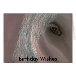 equine, Birthday Wishes Greeting Card