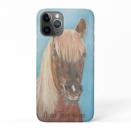 equine chestnut mare with blonde mane brown horse iPhone 11 pro case