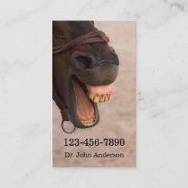 Equine Dentist Business Card