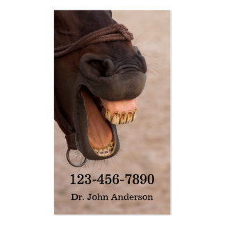 Equine Dentist Business Card