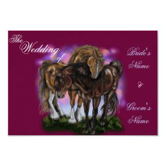 Equine Devotion~sunset horses invitations