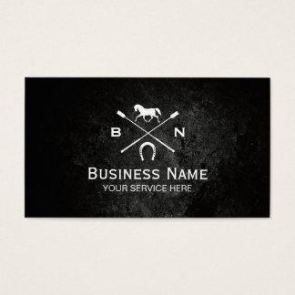 Equine Elegant Horseback Riding Equestrian Business Card