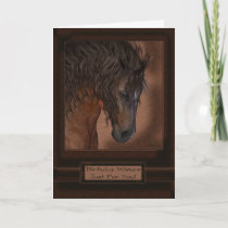 Equine Horse Birthday Greeting Card Just For You!