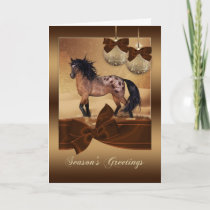 Equine Horse Christmas Holiday Greeting Card