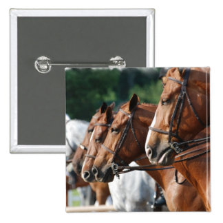 Equine Horse Show Square Pin