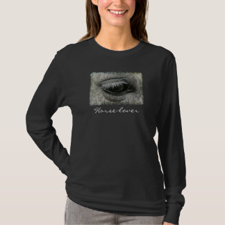 Equine-lover Horse's Eye Photo Ladies Shirt