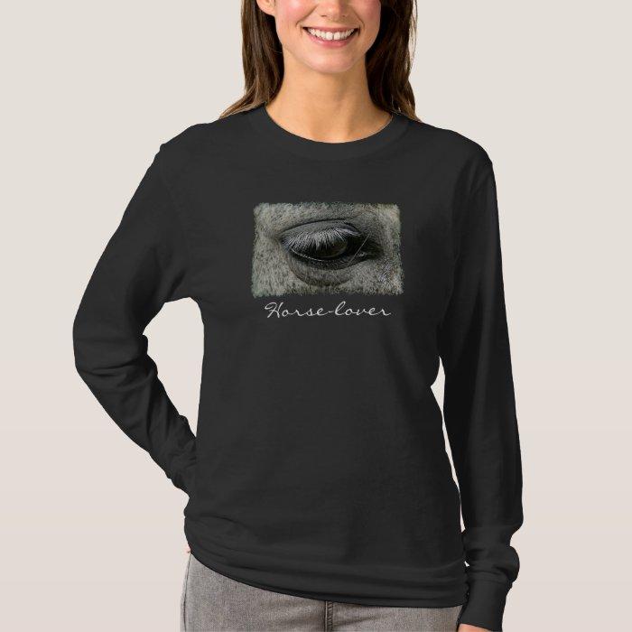 Equine-lover Horse's Eye Photo Ladies Shirt