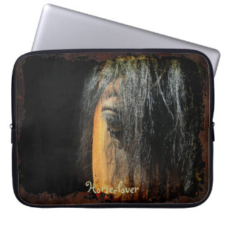 Equine-lover Horse's Eye Photo Laptop Sleeve