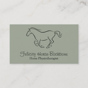 Equine Physiotherapist Business Card