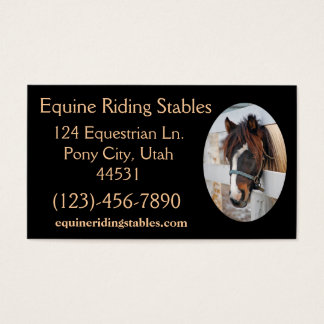 Equine Sample1 Business Card