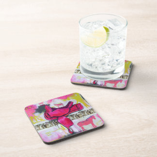 Equine themed coster with vintage look coaster