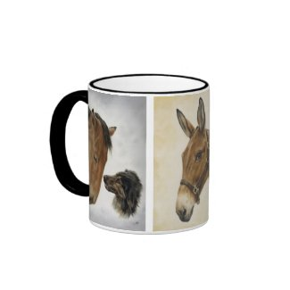 Equine Trio Mug in Black