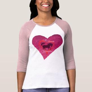 Equine Valentine Ladies 3/4 Sleeve Raglan (Fitted) T-shirt